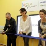 Otevření digitální třídy projektu Škola dotykem na ZŠ v Nemyčevsi